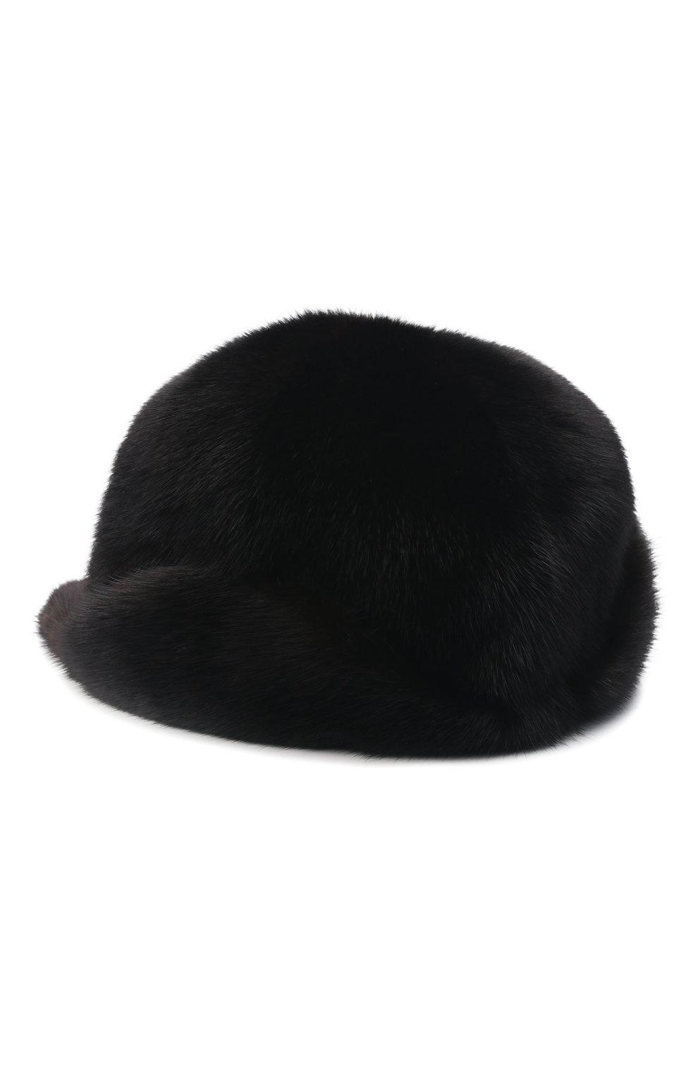 Мужской бейсболка из меха норки FURLAND черного цвета, арт. 0118202110110300115   Фото 2
