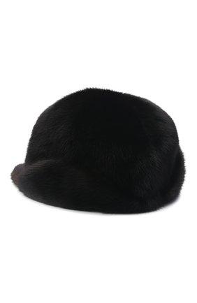 Мужской бейсболка из меха норки FURLAND черного цвета, арт. 0118202110110300115 | Фото 2