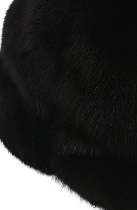 Мужской бейсболка из меха норки FURLAND черного цвета, арт. 0118202110110300115   Фото 3