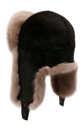 Мужская шапка-ушанка из меха норки и соболя KUSSENKOVV разноцветного цвета, арт. 330213648235 | Фото 2