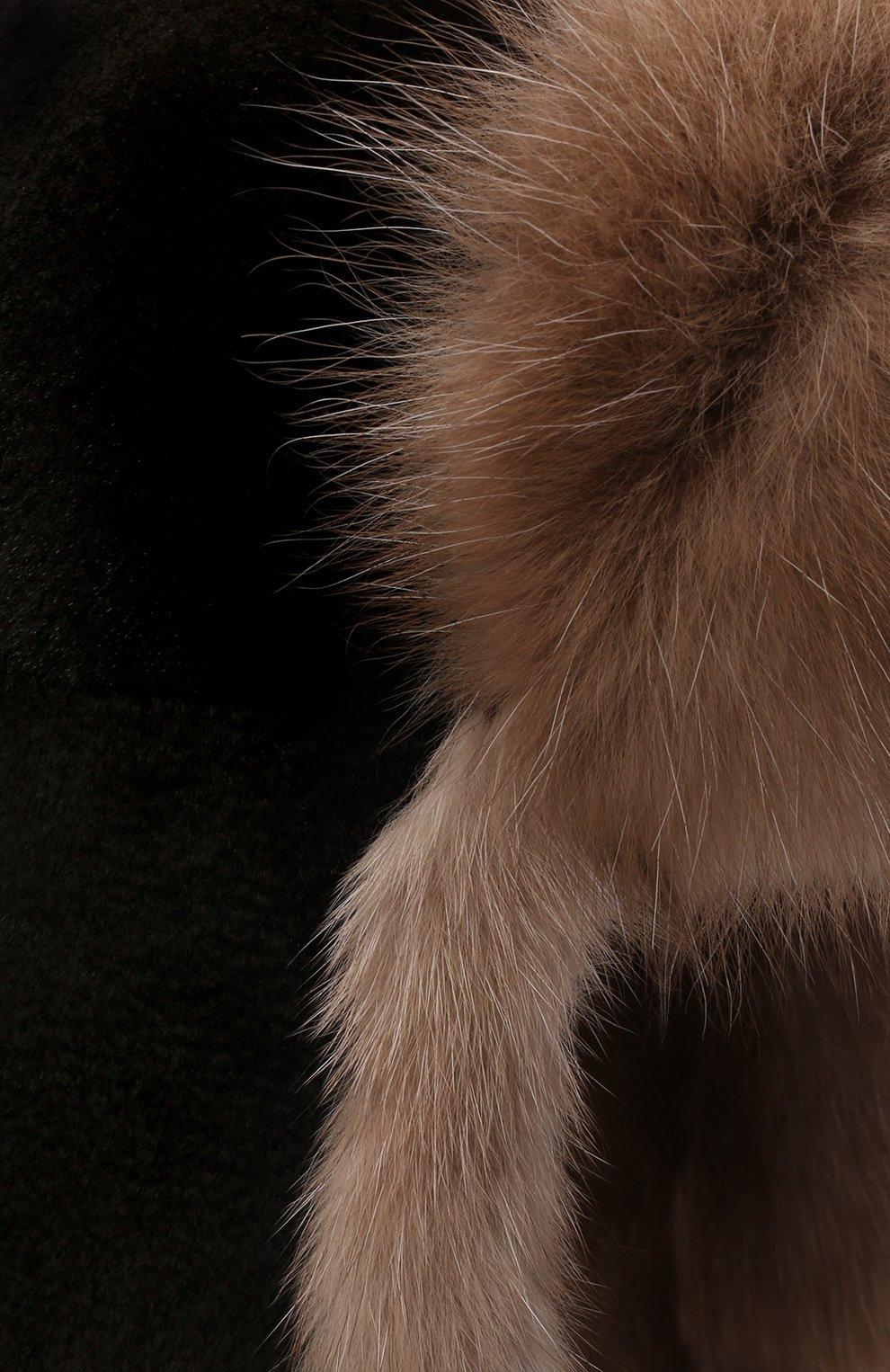 Мужская шапка-ушанка из меха норки и соболя KUSSENKOVV разноцветного цвета, арт. 330213648235 | Фото 3