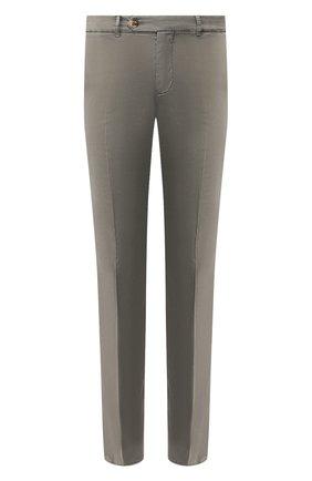 Мужские хлопковые брюки BRUNELLO CUCINELLI хаки цвета, арт. M289LB1150 | Фото 1