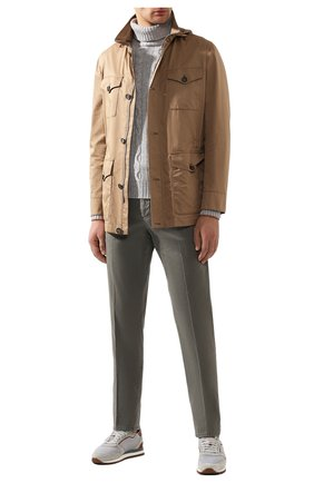 Мужские хлопковые брюки BRUNELLO CUCINELLI хаки цвета, арт. M289LB1150 | Фото 2