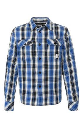 Мужская хлопковая рубашка DIESEL синего цвета, арт. 00SBEZ/0LAXJ   Фото 1