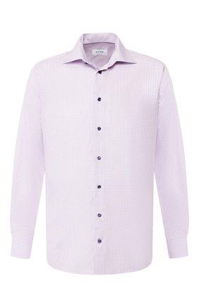 Мужская хлопковая сорочка ETON сиреневого цвета, арт. 1000 00531 | Фото 1