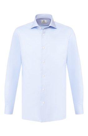 Мужская хлопковая сорочка LUIGI BORRELLI голубого цвета, арт. EV08/ARCHILLE/TS10701 | Фото 1
