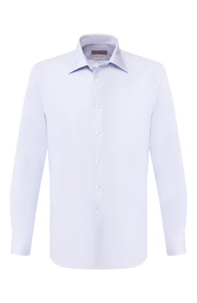 Мужская хлопковая сорочка CANALI голубого цвета, арт. N705/GR01839/S | Фото 1