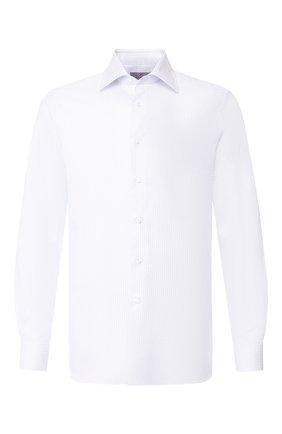 Мужская хлопковая сорочка CANALI белого цвета, арт. XX05/GF01856 | Фото 1