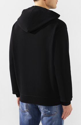 Мужской хлопковое худи DSQUARED2 черно-белого цвета, арт. S74GU0409/S25305 | Фото 4