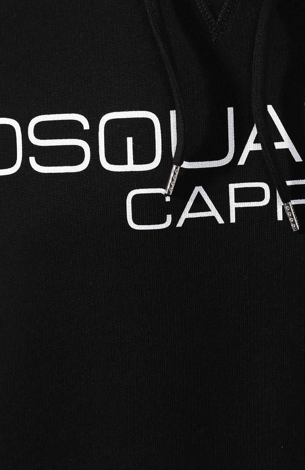 Мужской хлопковое худи DSQUARED2 черно-белого цвета, арт. S74GU0409/S25305 | Фото 5