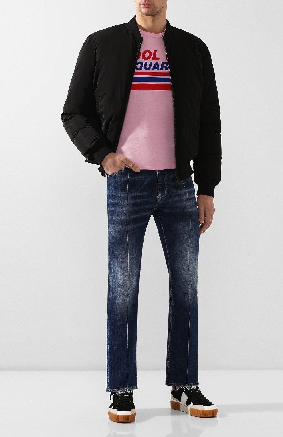 Мужская хлопковая футболка DSQUARED2 розового цвета, арт. S74GD0656/S22427   Фото 2