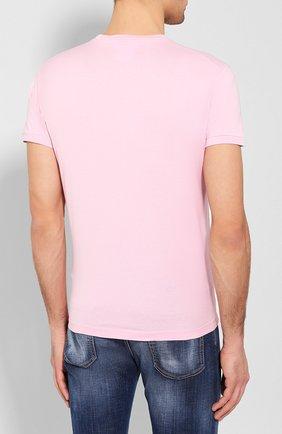 Мужская хлопковая футболка DSQUARED2 розового цвета, арт. S74GD0656/S22427   Фото 4