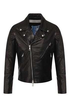 Мужская кожаная куртка GIORGIO BRATO черного цвета, арт. GU20S9205BISD0M | Фото 1