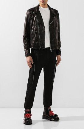 Мужская кожаная куртка GIORGIO BRATO черного цвета, арт. GU20S9205BISD0M | Фото 2