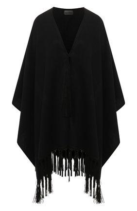 Женская кашемировое пончо SAINT LAURENT черного цвета, арт. 613060/3YB35 | Фото 1