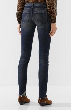 Женские джинсы SAINT LAURENT синего цвета, арт. 602816/YD993 | Фото 4
