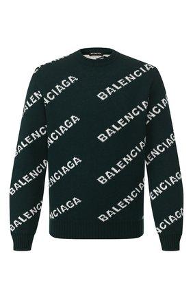 Мужской шерстяной свитер BALENCIAGA зеленого цвета, арт. 547831/T1473 | Фото 1