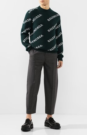 Мужской шерстяной свитер BALENCIAGA зеленого цвета, арт. 547831/T1473 | Фото 2