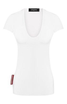 Женская хлопковая футболка DSQUARED2 белого цвета, арт. S75GD0101/S22427 | Фото 1