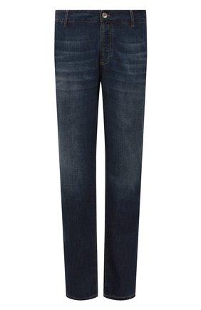 Мужские джинсы BRUNELLO CUCINELLI темно-синего цвета, арт. ME645D2050 | Фото 1