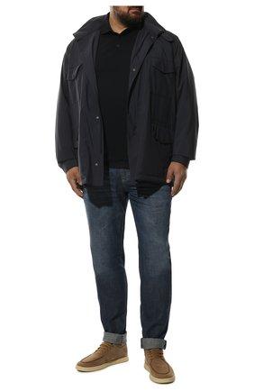 Мужские джинсы BRUNELLO CUCINELLI темно-синего цвета, арт. ME645D2050 | Фото 2