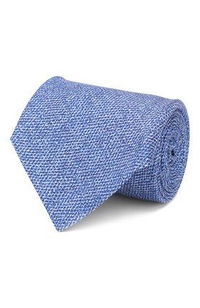 Мужской шелковый галстук KITON синего цвета, арт. UCRVKLC02G80 | Фото 1