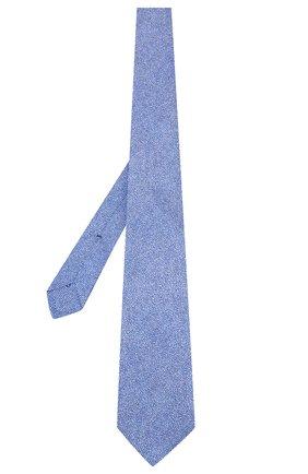Мужской шелковый галстук KITON синего цвета, арт. UCRVKLC02G80 | Фото 2