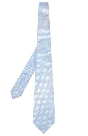 Мужской галстук из смеси шелка и льна KITON голубого цвета, арт. UCRVKLC02G84 | Фото 2