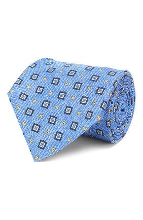 Мужской шелковый галстук KITON синего цвета, арт. UCRVKLC03G27 | Фото 1