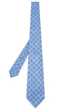 Мужской шелковый галстук KITON синего цвета, арт. UCRVKLC03G27 | Фото 2
