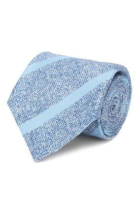 Мужской шелковый галстук KITON синего цвета, арт. UCRVKLC03G53 | Фото 1
