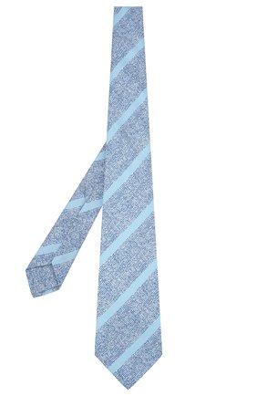 Мужской шелковый галстук KITON синего цвета, арт. UCRVKLC03G53 | Фото 2