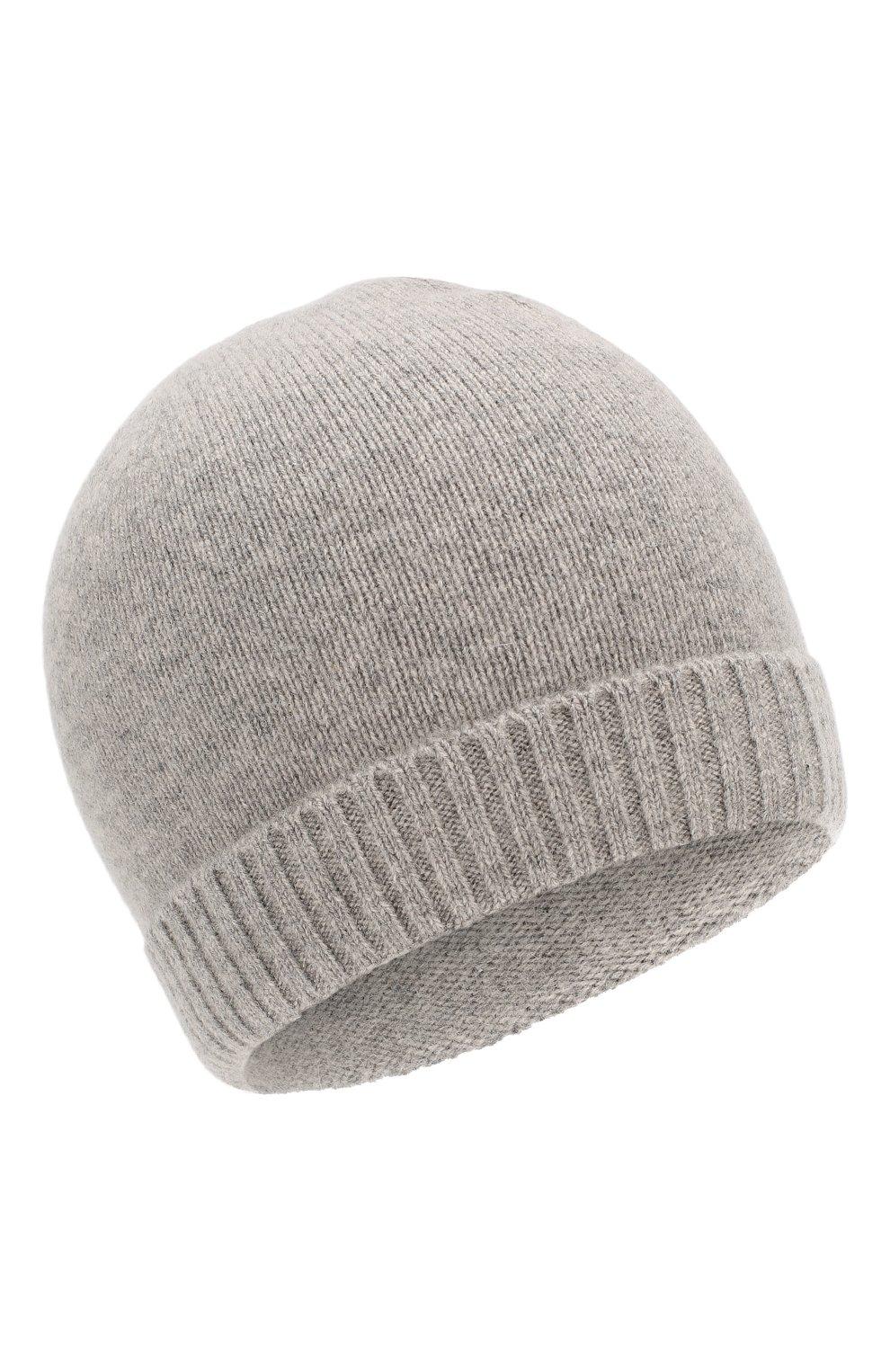 Детского кашемировая шапка OSCAR ET VALENTINE серого цвета, арт. BON 02 | Фото 1 (Материал: Кашемир, Шерсть; Статус проверки: Проверена категория)