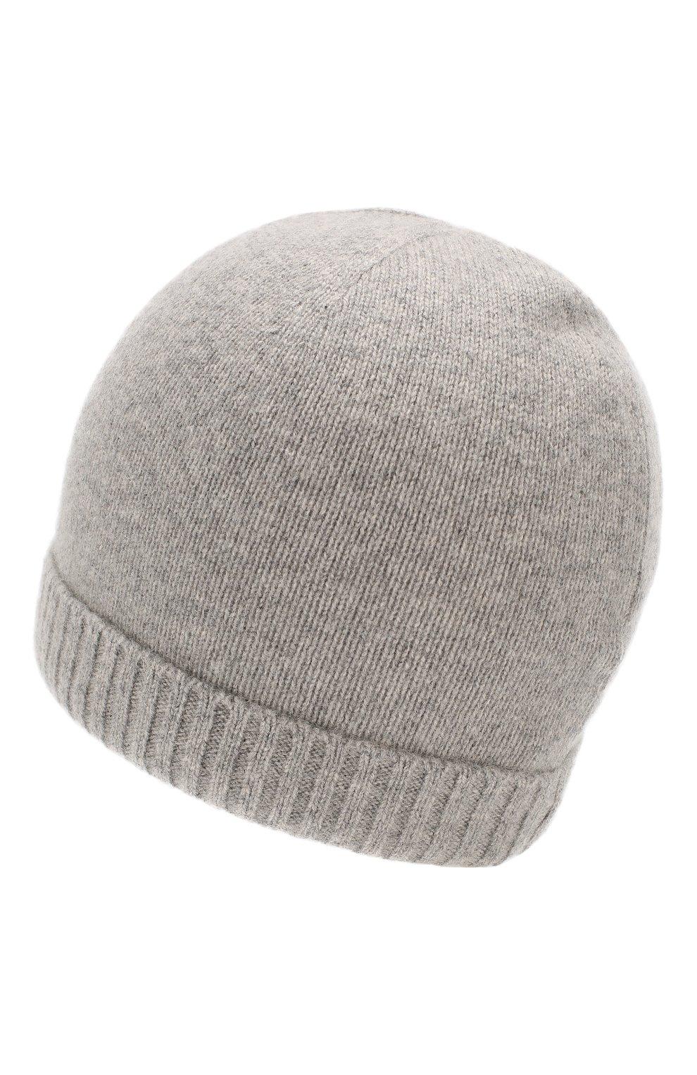 Детского кашемировая шапка OSCAR ET VALENTINE серого цвета, арт. BON 02 | Фото 2 (Материал: Кашемир, Шерсть; Статус проверки: Проверена категория)