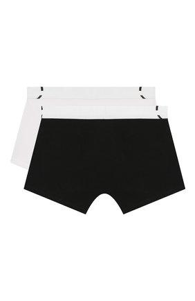 Детские комплект из 2-х боксеров CALVIN KLEIN черно-белого цвета, арт. B70B700208 | Фото 2