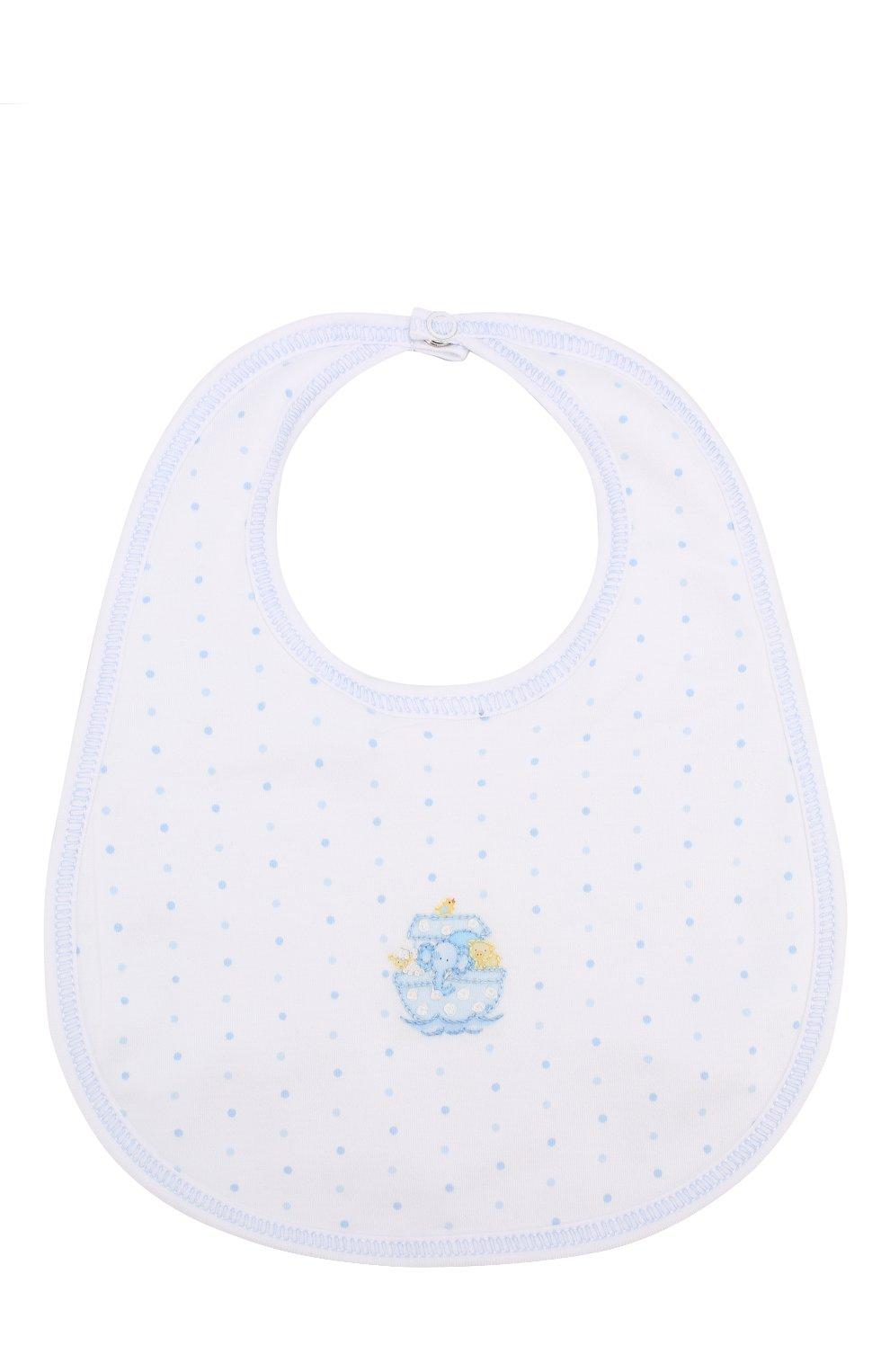 Детский хлопковый нагрудник MAGNOLIA BABY синего цвета, арт. E109-51-LB | Фото 1 (Материал: Текстиль, Хлопок)