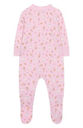 Детский хлопковый комбинезон MAGNOLIA BABY розового цвета, арт. 468-22ZP-PK | Фото 2