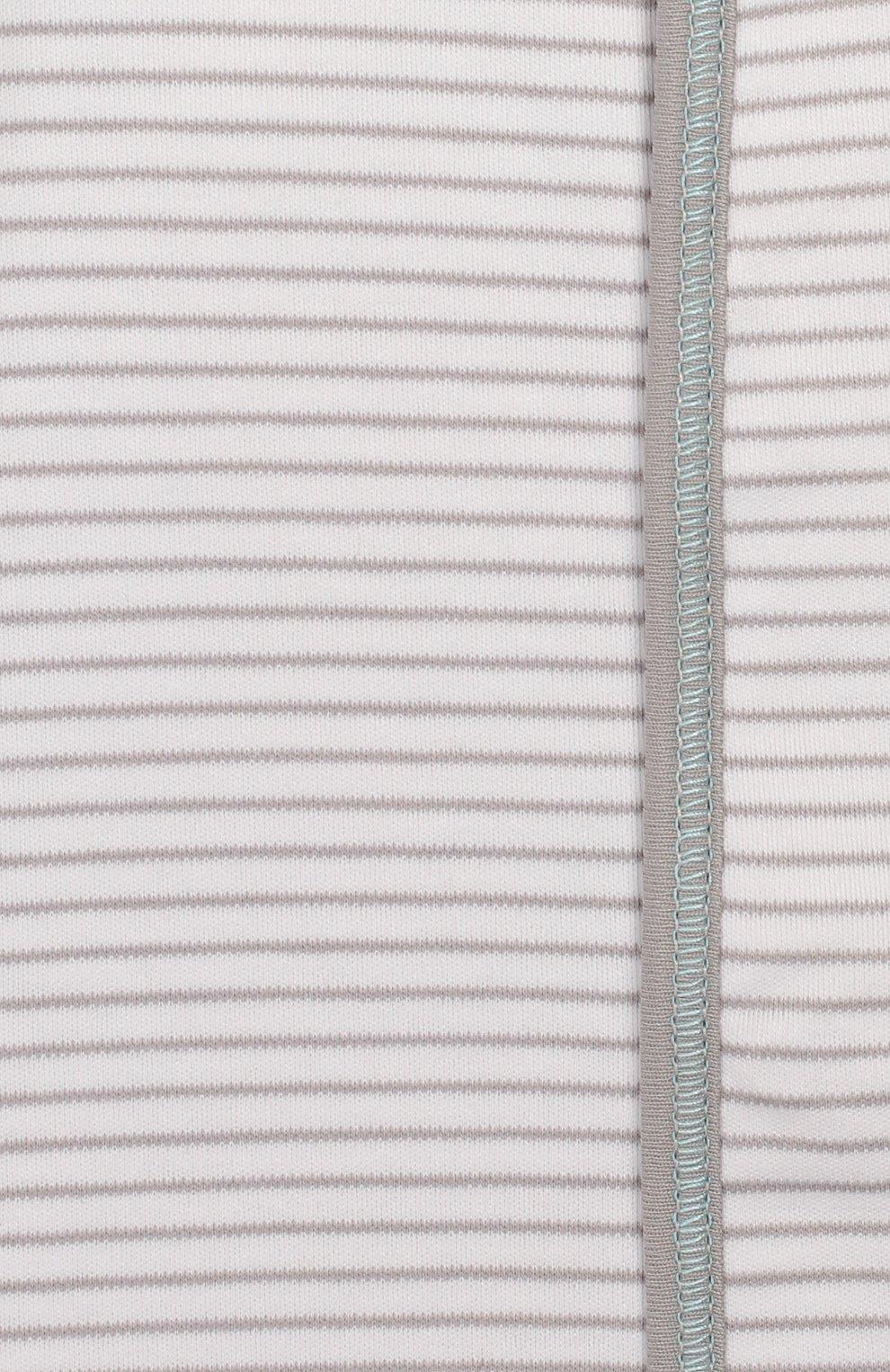 Детский хлопковый комбинезон MAGNOLIA BABY серого цвета, арт. 563-22-LB   Фото 3 (Рукава: Длинные; Материал внешний: Хлопок)