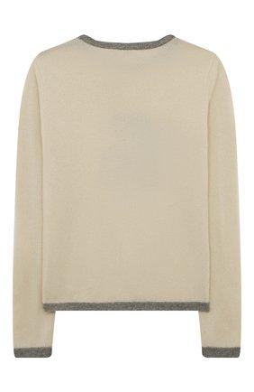 Детский кашемировый пуловер OSCAR ET VALENTINE бежевого цвета, арт. PULBEAR1L | Фото 2