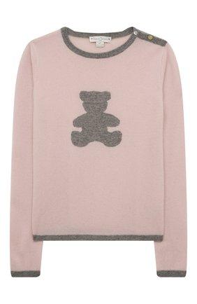 Детский кашемировый пуловер OSCAR ET VALENTINE розового цвета, арт. PULBEAR1L | Фото 1