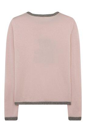 Детский кашемировый пуловер OSCAR ET VALENTINE розового цвета, арт. PULBEAR1L | Фото 2