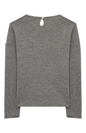 Детский кашемировый пуловер OSCAR ET VALENTINE серого цвета, арт. PUL01AMOURL | Фото 2