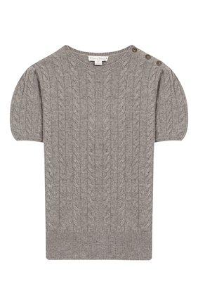 Детский кашемировый пуловер OSCAR ET VALENTINE серого цвета, арт. PUL05L | Фото 1