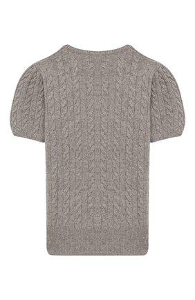 Детский кашемировый пуловер OSCAR ET VALENTINE серого цвета, арт. PUL05L | Фото 2