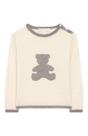 Детский кашемировый пуловер OSCAR ET VALENTINE бежевого цвета, арт. PULBEAR1M | Фото 1