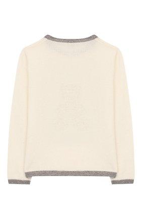 Детский кашемировый пуловер OSCAR ET VALENTINE бежевого цвета, арт. PULBEAR1M | Фото 2