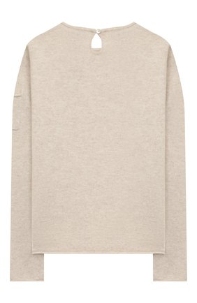 Детский кашемировый пуловер OSCAR ET VALENTINE бежевого цвета, арт. PUL01BEARL | Фото 2