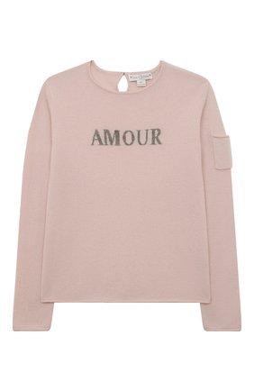 Детский кашемировый пуловер OSCAR ET VALENTINE розового цвета, арт. PUL01AMOURL | Фото 1