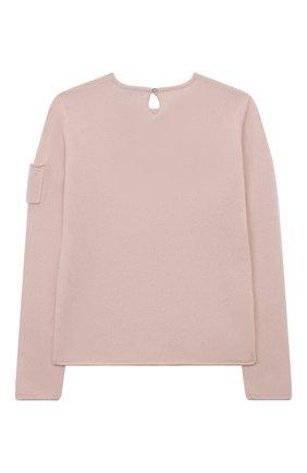 Детский кашемировый пуловер OSCAR ET VALENTINE розового цвета, арт. PUL01AMOURL | Фото 2