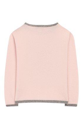 Детский кашемировый пуловер OSCAR ET VALENTINE розового цвета, арт. PULBEAR1M | Фото 2